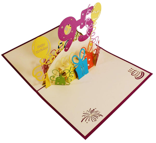 Happy 95th Birthday With Lots of Presents 3D Pop Up Greeting Card 7