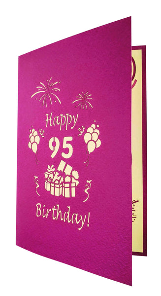 Happy 95th Birthday With Lots of Presents 3D Pop Up Greeting Card 8