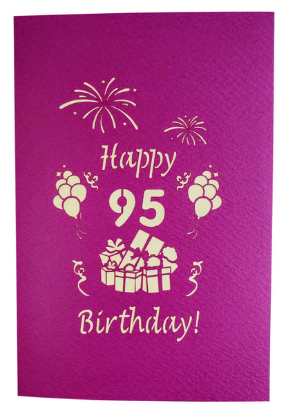 Happy 95th Birthday With Lots of Presents 3D Pop Up Greeting Card 9