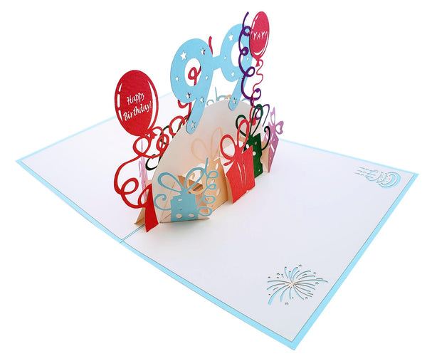 Happy 99th Birthday With Lots of Presents 3D Pop Up Greeting Card 5