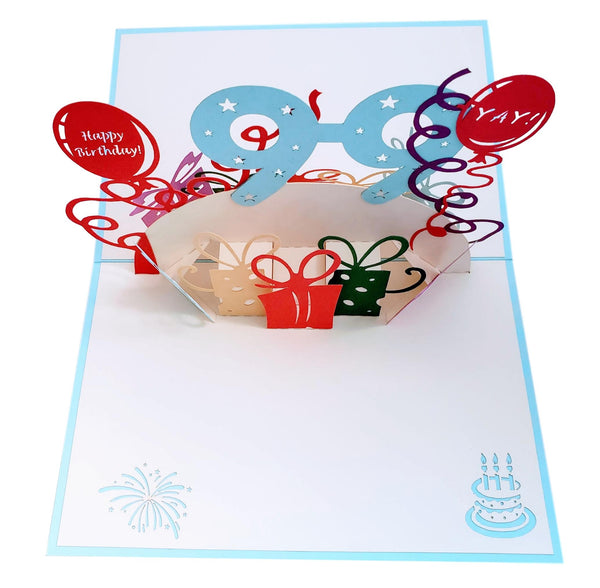 Happy 99th Birthday With Lots of Presents 3D Pop Up Greeting Card 6