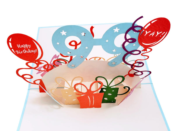 Happy 99th Birthday With Lots of Presents 3D Pop Up Greeting Card 7