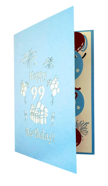 Happy 99th Birthday With Lots of Presents 3D Pop Up Greeting Card 8
