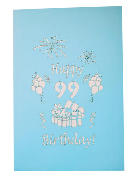 Happy 99th Birthday With Lots of Presents 3D Pop Up Greeting Card 9