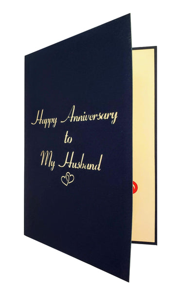 Happy Anniversary to My Husband 3D Pop Up Greeting Card 7