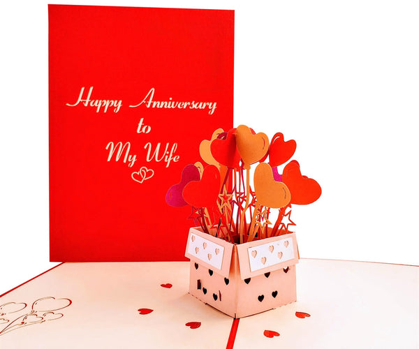 Happy Anniversary to My Wife 3D Pop Up Greeting Card 2