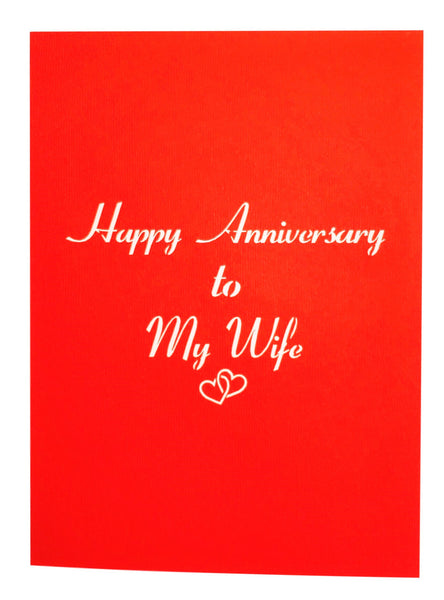 Happy Anniversary to My Wife 3D Pop Up Greeting Card 7