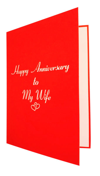Happy Anniversary to My Wife 3D Pop Up Greeting Card 6