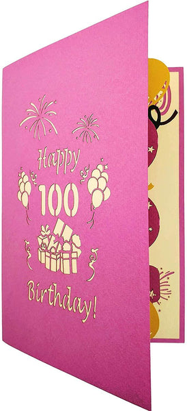 Happy 100th Birthday With Lots of Presents 3D Pop Up Greeting Card 8