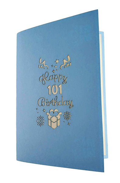Happy 101st Birthday With Lots of Presents 3D Pop Up Greeting Card 7