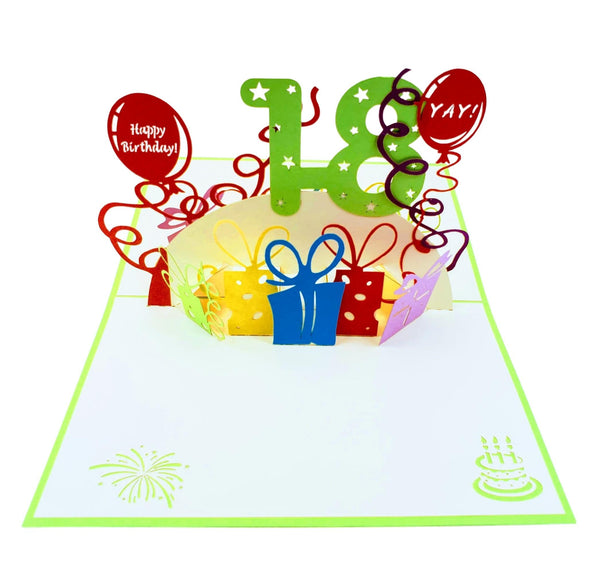 Happy 18th Birthday 3D Pop Up Greeting Card 2