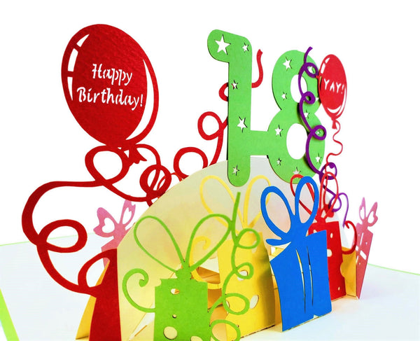 Happy 18th Birthday 3D Pop Up Greeting Card 4