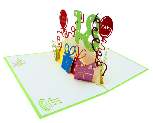 Happy 18th Birthday 3D Pop Up Greeting Card 5