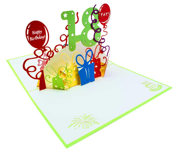 Happy 18th Birthday 3D Pop Up Greeting Card 6