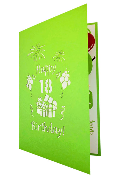 Happy 18th Birthday 3D Pop Up Greeting Card 8