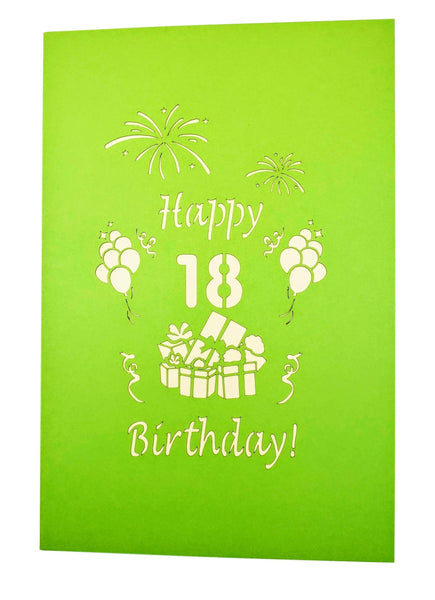 Happy 18th Birthday 3D Pop Up Greeting Card 9