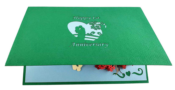 Happy 1st Anniversary 3D Pop Up Greeting Card 8