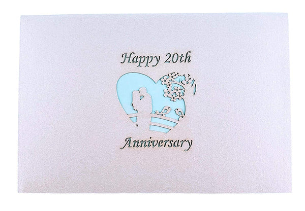 Happy 20th Anniversary 3D Pop Up Greeting Card 8