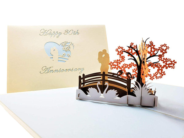 Happy 30th Anniversary 3D Pop Up Greeting Card 6