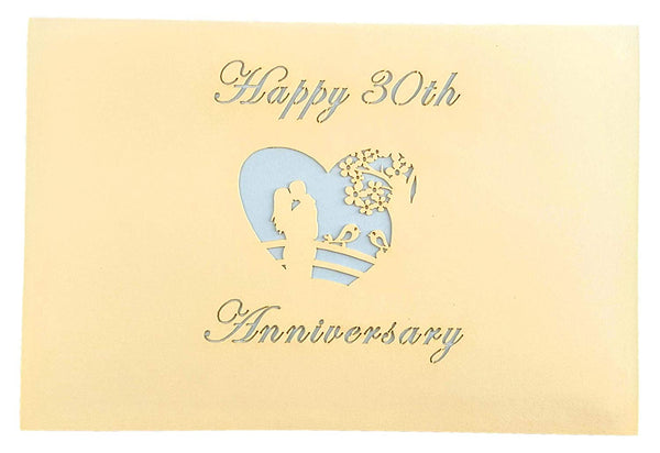 Happy 30th Anniversary 3D Pop Up Greeting Card 8