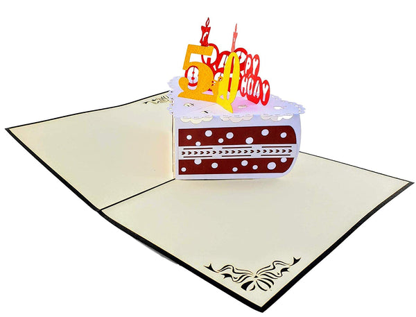 50th Birthday Cake 3D Pop Up Card 2