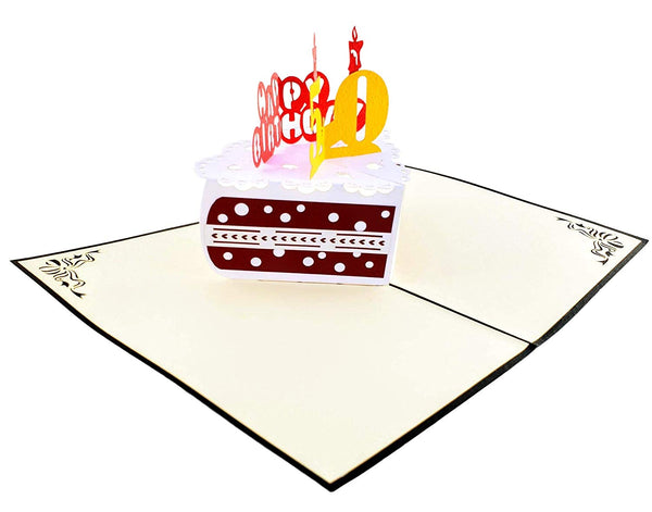 50th Birthday Cake 3D Pop Up Card 3