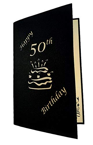 50th Birthday Cake 3D Pop Up Card 6