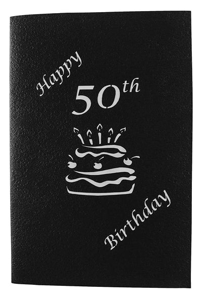 50th Birthday Cake 3D Pop Up Card 7