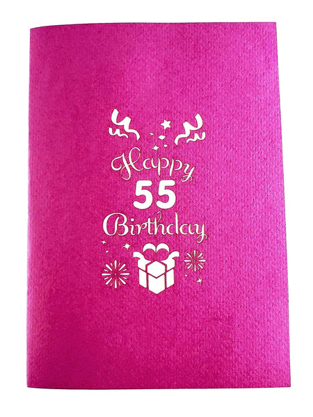 Happy 55th Birthday With Lots of Presents 3D Pop Up Greeting Card 8