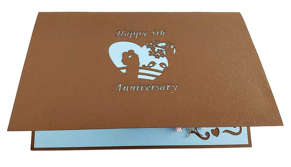 Happy 5th Anniversary 3D Pop Up Greeting Card 7