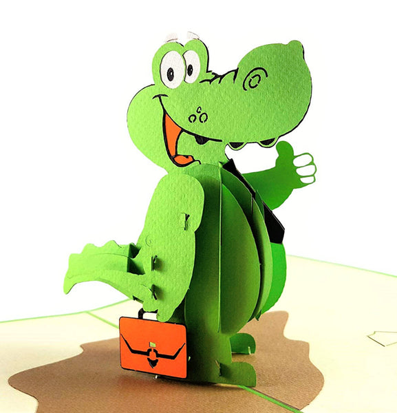 Happy Alligator 3D Pop Up Greeting Card 1