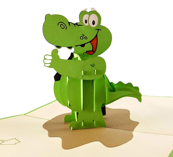 Happy Alligator 3D Pop Up Greeting Card 2