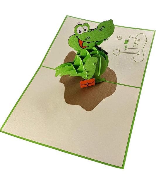 Happy Alligator 3D Pop Up Greeting Card 6