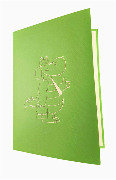 Happy Alligator 3D Pop Up Greeting Card 7