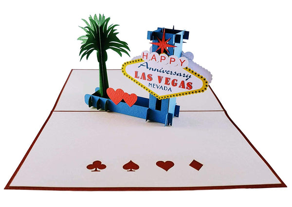 Happy Anniversary Las Vegas 3D Pop Up Greeting Card 2