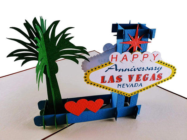 Happy Anniversary Las Vegas 3D Pop Up Greeting Card 5
