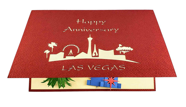 Happy Anniversary Las Vegas 3D Pop Up Greeting Card 6