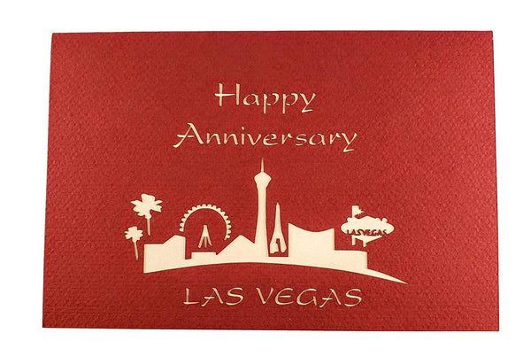Happy Anniversary Las Vegas 3D Pop Up Greeting Card 7