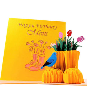 Happy Birthday Mom 3D Pop Up Greeting Card