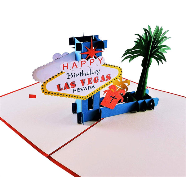 Happy Birthday Red Cover Las Vegas 3D Pop Up Greeting Card 4