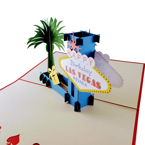 Happy Birthday Red Cover Las Vegas 3D Pop Up Greeting Card 6