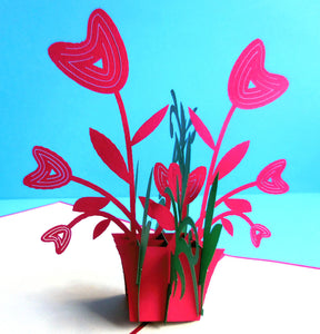 Happy Flowers 3D Pop Up Greeting Card 1