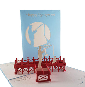 Happy Retirement 3D Pop Up Greeting Card 1 front
