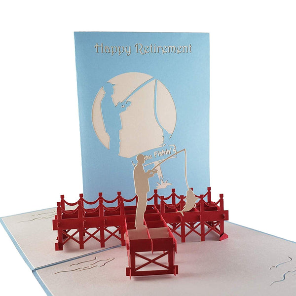 Happy Retirement 3D Pop Up Greeting Card 1