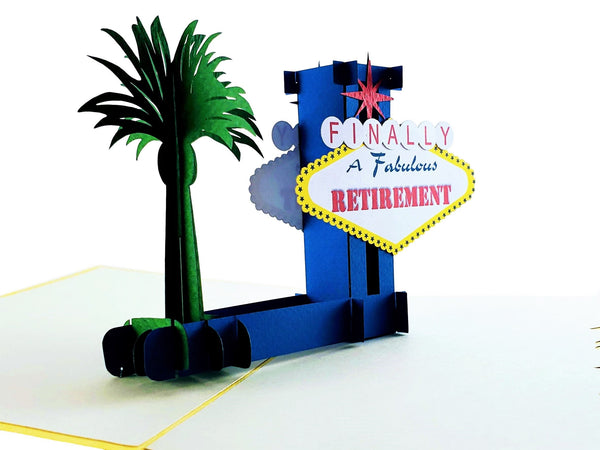 Happy Retirement Las Vegas 3D Pop Up Greeting Card 4