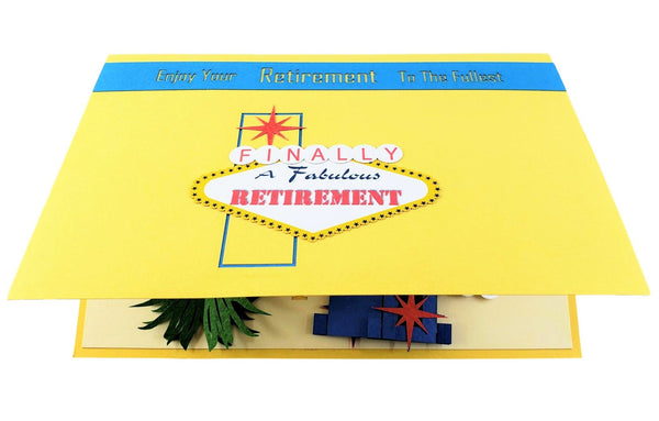 Happy Retirement Las Vegas 3D Pop Up Greeting Card 8