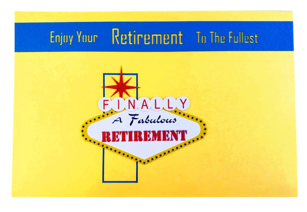 Happy Retirement Las Vegas 3D Pop Up Greeting Card 9