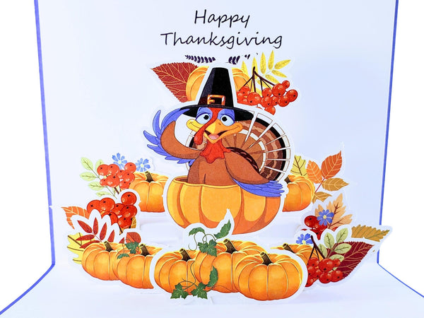 Happy Thanksgiving Turkey 3D Pop Up Greeting Card 2