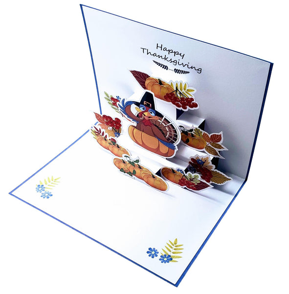 Happy Thanksgiving Turkey 3D Pop Up Greeting Card 3