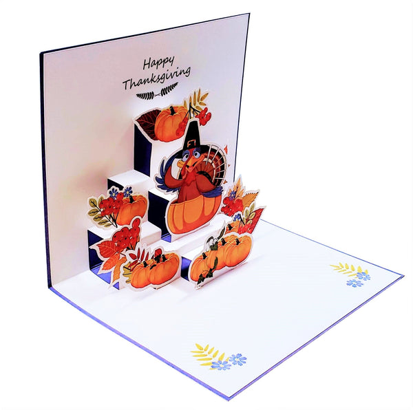 Happy Thanksgiving Turkey 3D Pop Up Greeting Card 4